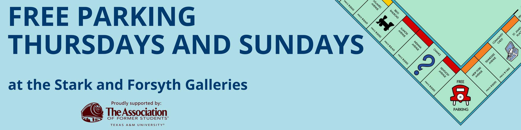 free parkingthursdays and sundays web banner